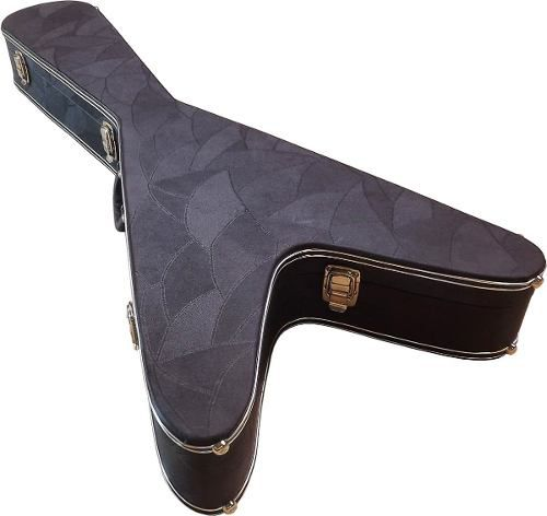 Estojo Case Guitarra Formato Flying V Luxo