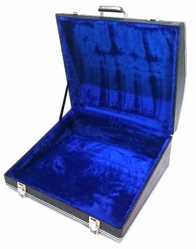 Estojo Case Para Acordeon 80 Baixos Luxo Pelucia Azul
