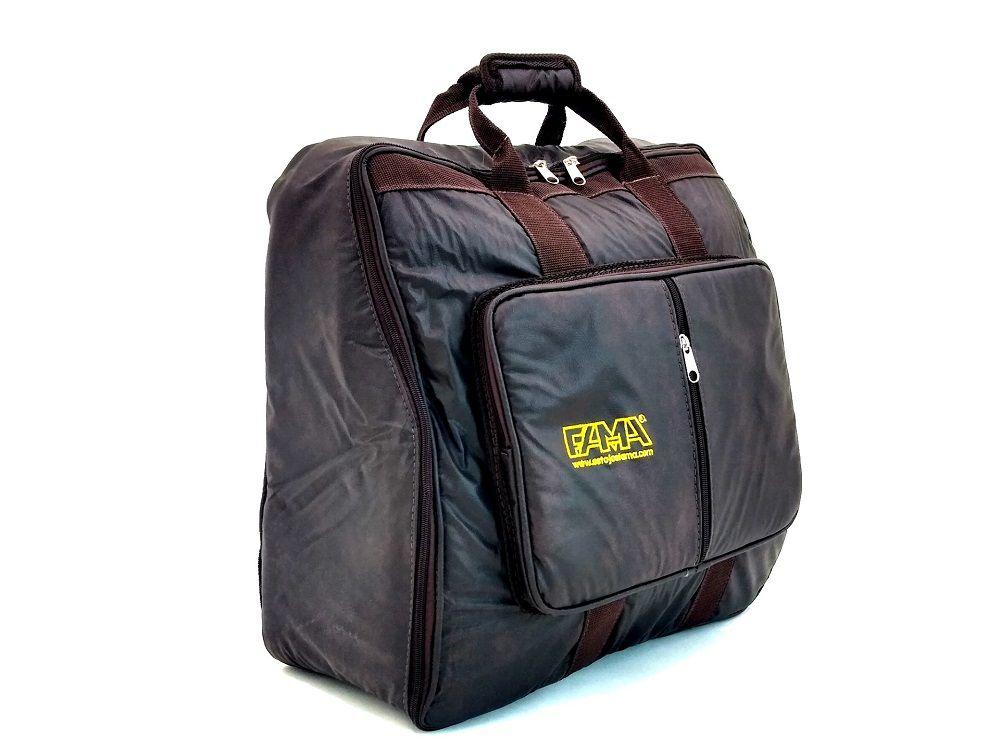 Capa Bag para Acordeon Sanfona Gaita 80 Baixos Couro Ecológico Marrom