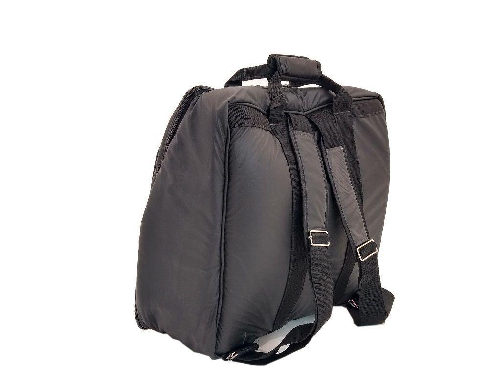Capa Bag para Acordeon Sanfona Gaita 80 Baixos Couro Ecológico Preto