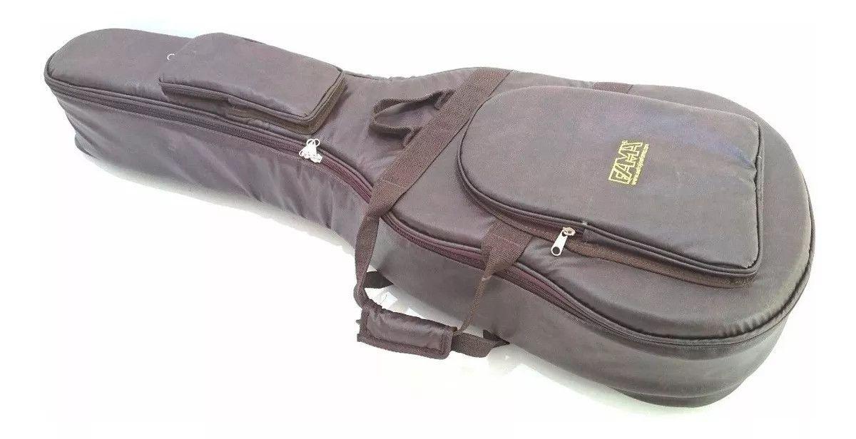 Capa Bag para Baixolão Tagima Strinberg Couro Ecologico Marrom