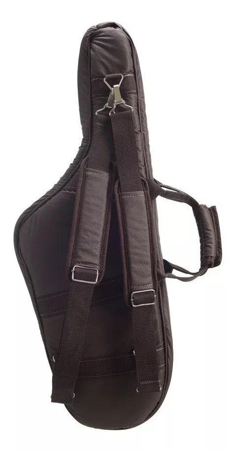 Capa Bag Para Sax Tenor Couro Ecológico Marrom