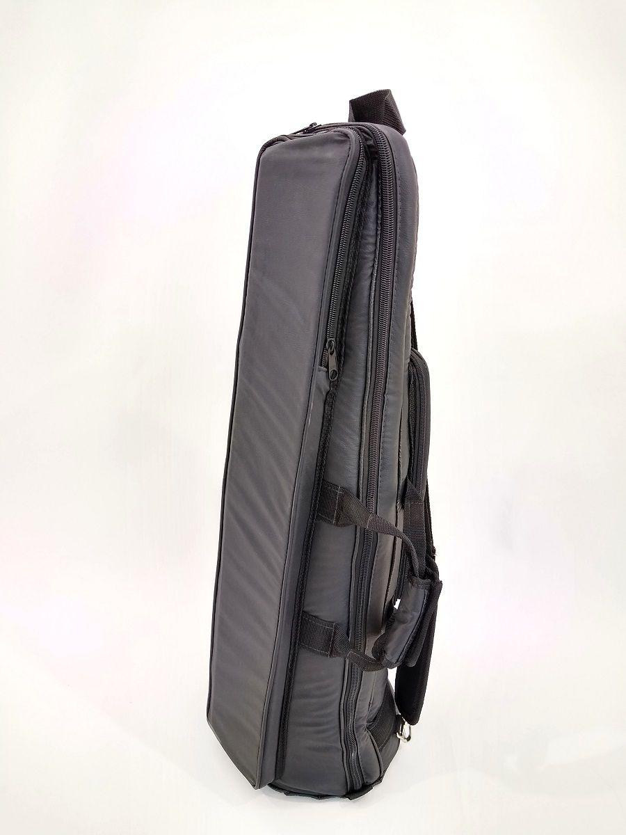 Capa Bag para Trombone de Vara Couro Ecológico Preto
