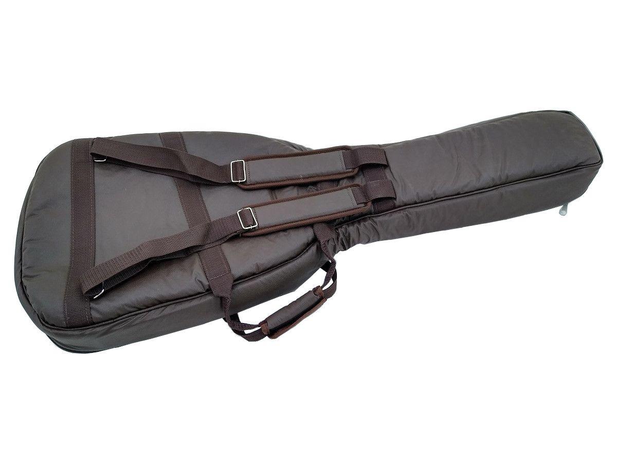 Capa Bag para Violão Flat ou Godin Couro Ecológico Marrom
