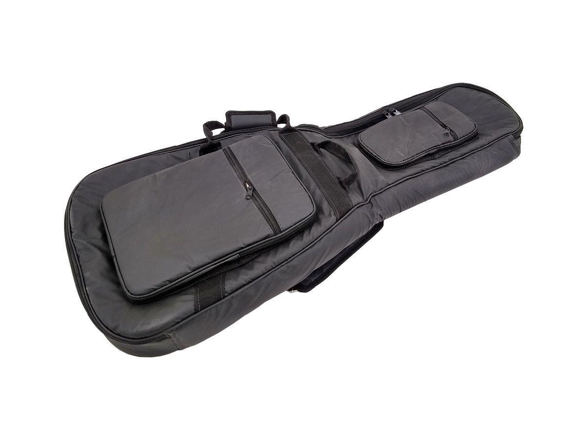 Capa Bag para Violão Flat ou Godin Couro Ecológico Preto