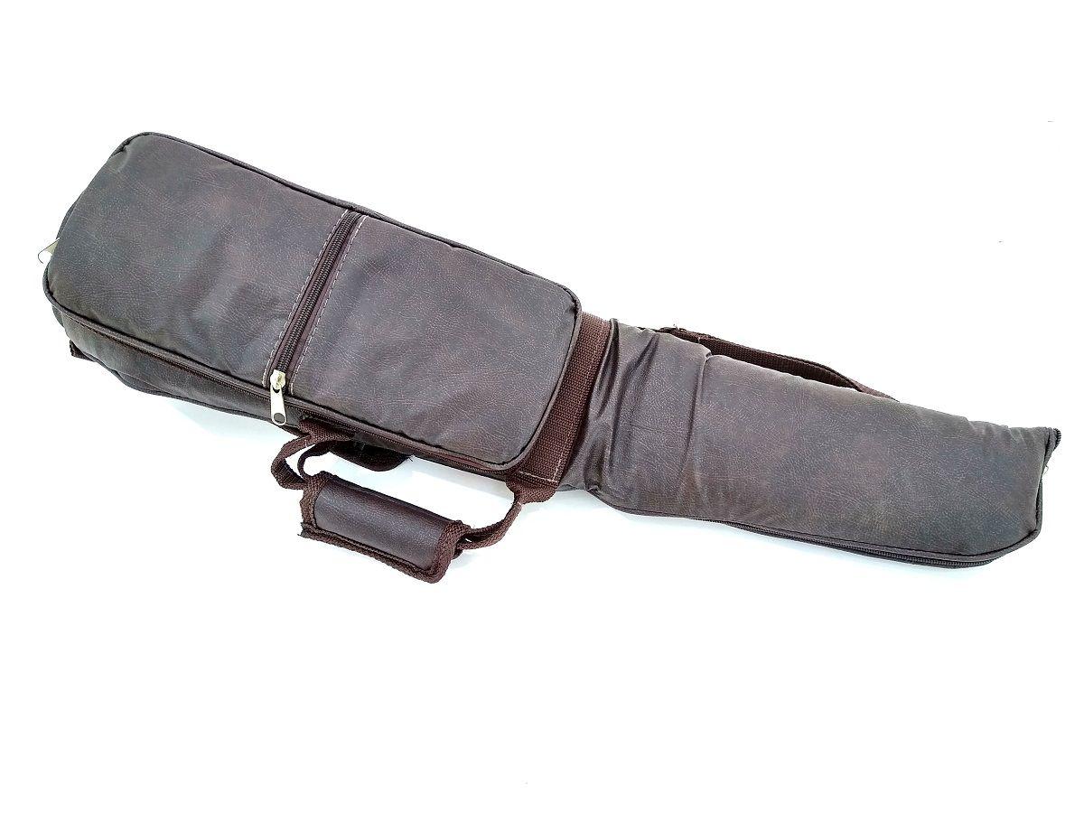 Capa Bag Sax Soprano Reto Couro Ecológico