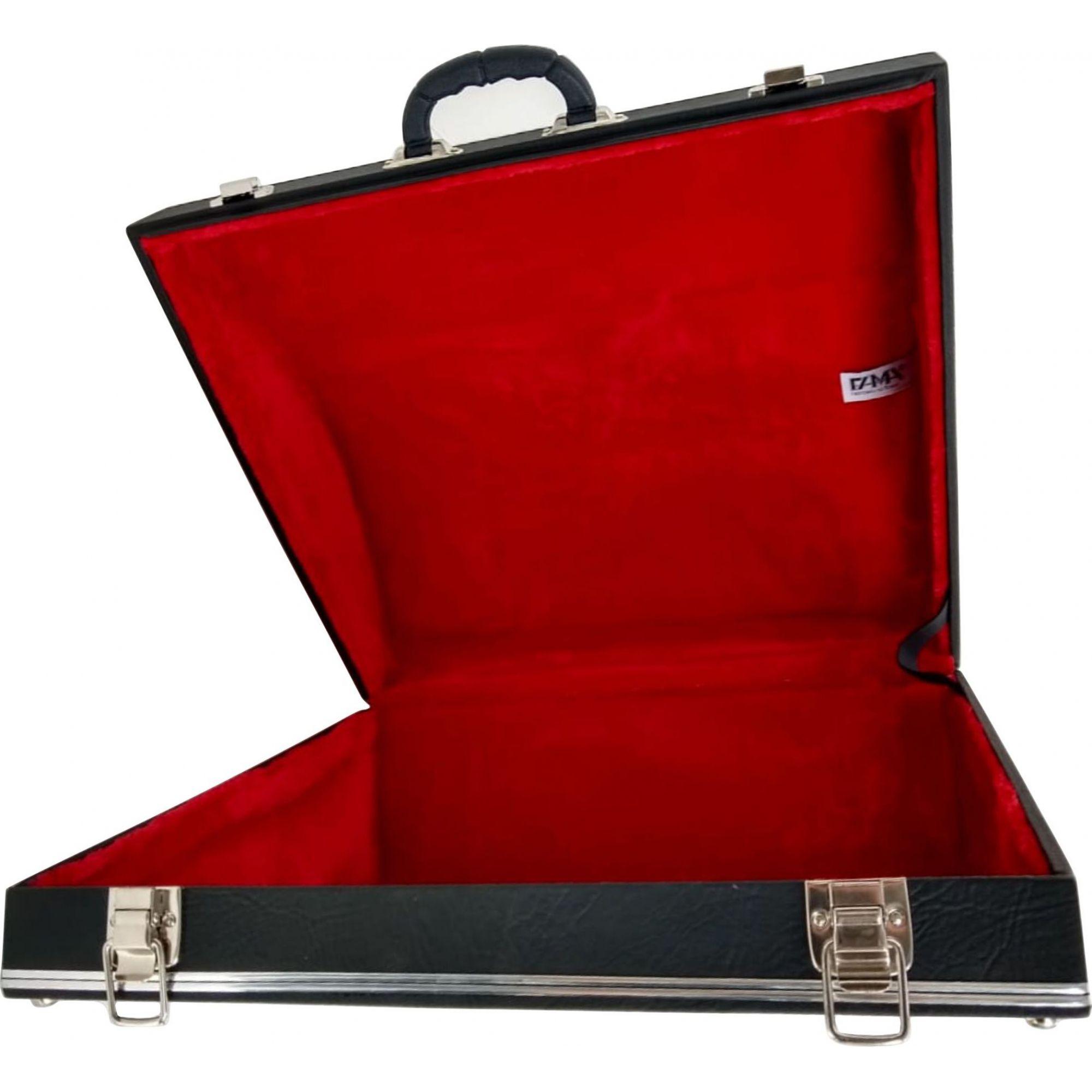 Case Para Acordeon 80 Baixos Luxo Pelucia Vermelha Todeschini