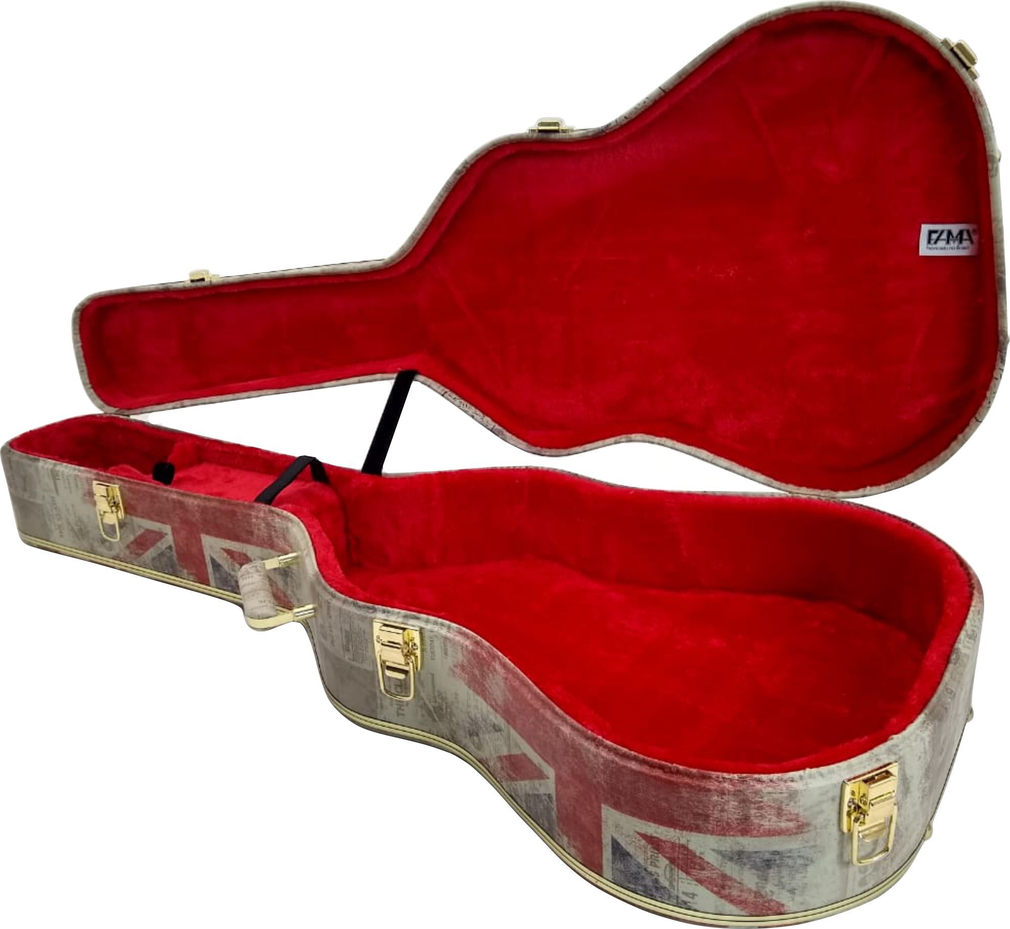 Case Para Guitarra Semi Acústica Couro Tema London