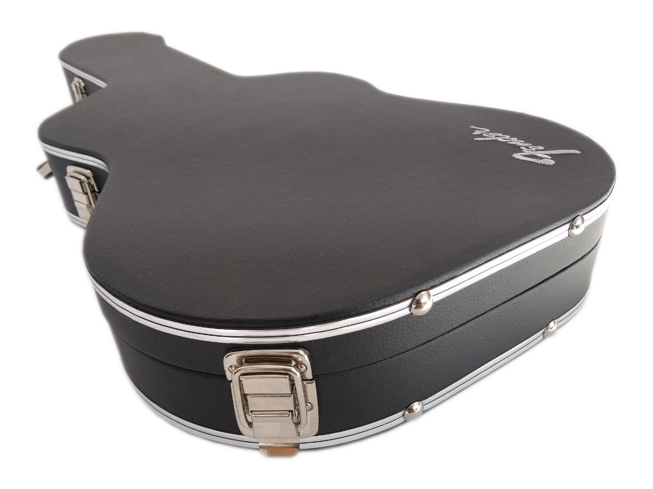 Case Térmico Para Guitarra Strato Logo Fender Luxo Pelúcia Vermelha