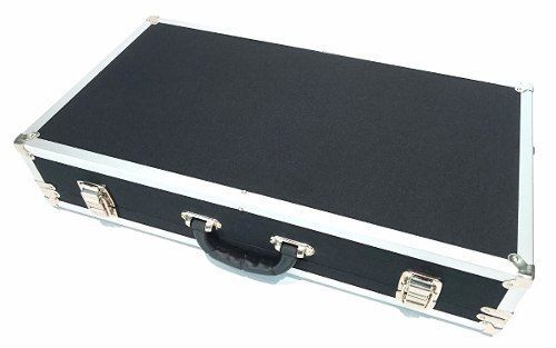 Case Para Pedais 75x45x15cm - Couro Sintético e Alumínio
