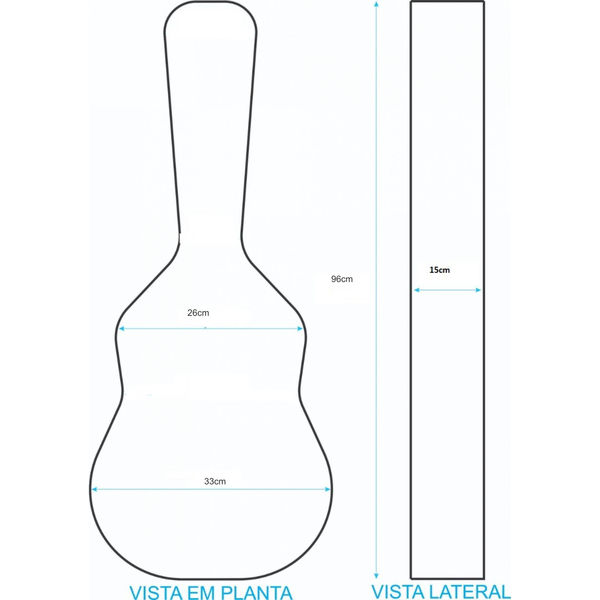 Case Para Violão Baby Luxo