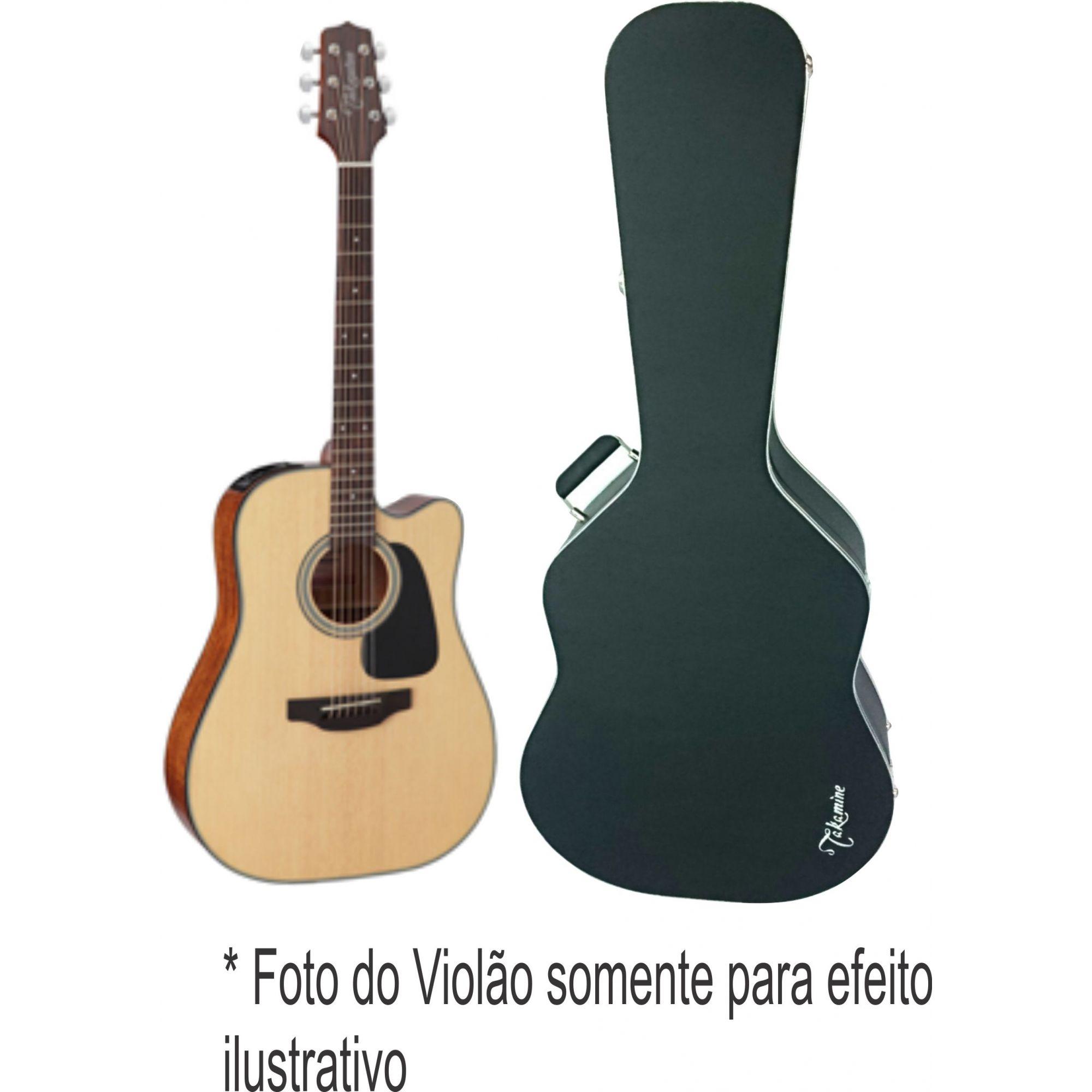 Case Para Violão Folk Luxo Bordado Takamine Fama