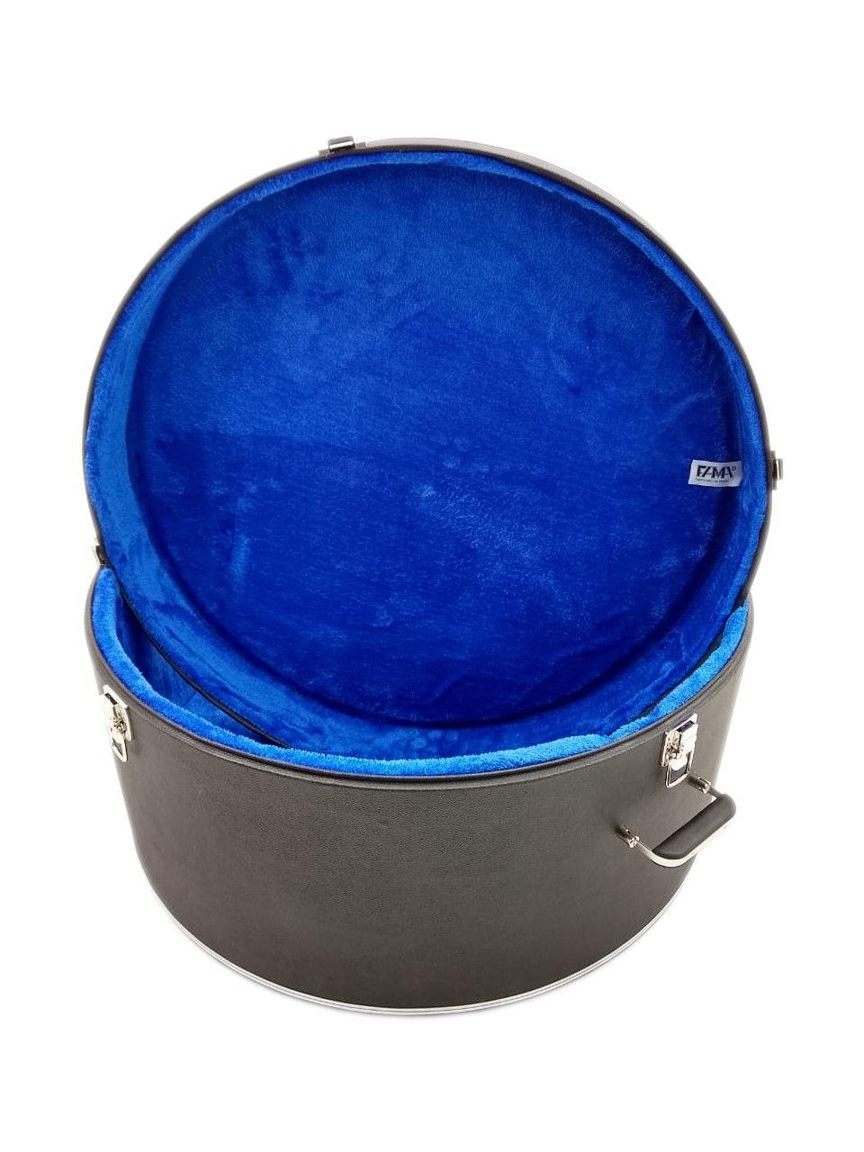 Case Para Zabumba 18x10 Luxo Pelúcia Azul Fama
