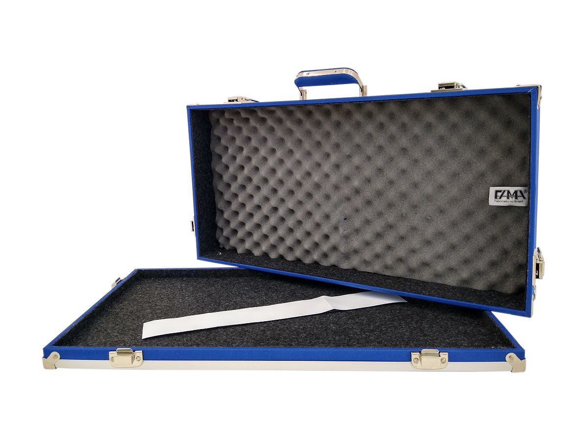 Case Pedais Pedaleira Boss Line6 Gt10 Zoom Fama Azul