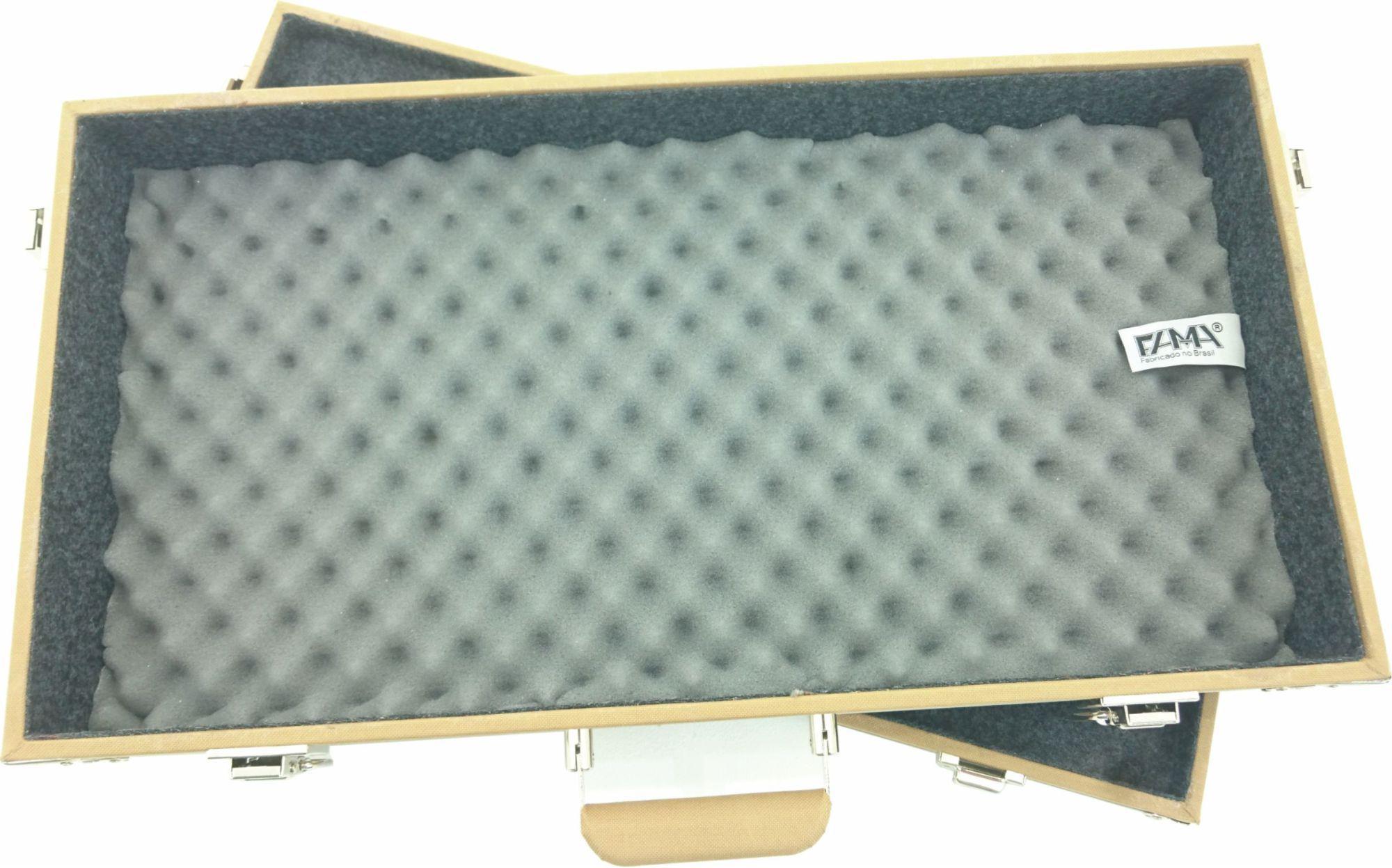 Case Pedais Pedaleira Boss Line6 Gt10 Zoom Tweed Fama