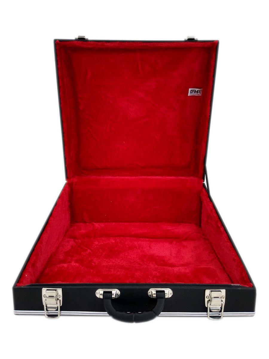 Case Térmico Para Acordeon 120 Baixos Luxo Pelúcia Vermelha