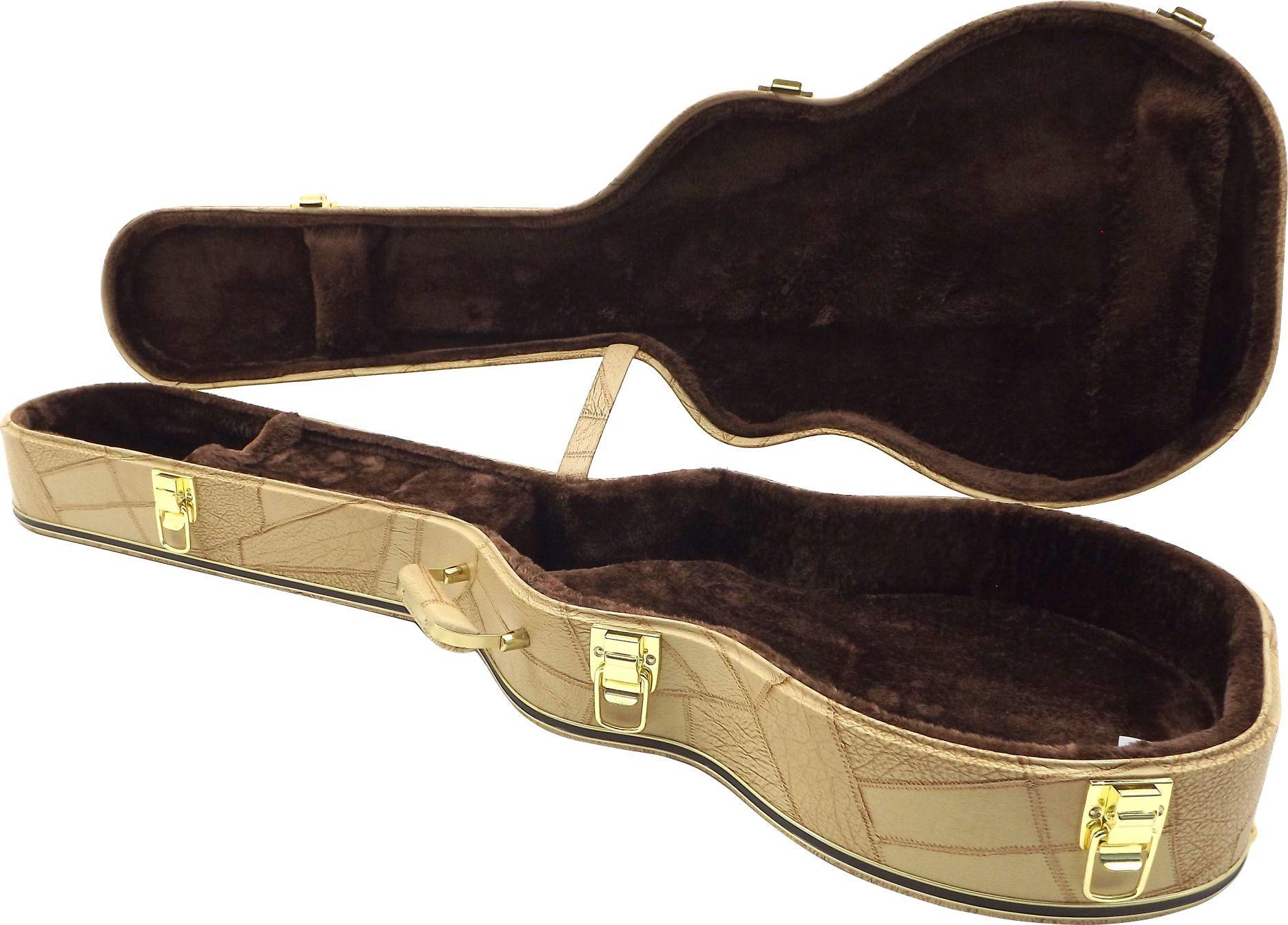 Estojo Case Para Guitarra Les Paul Gibson Epiphone Caramelo