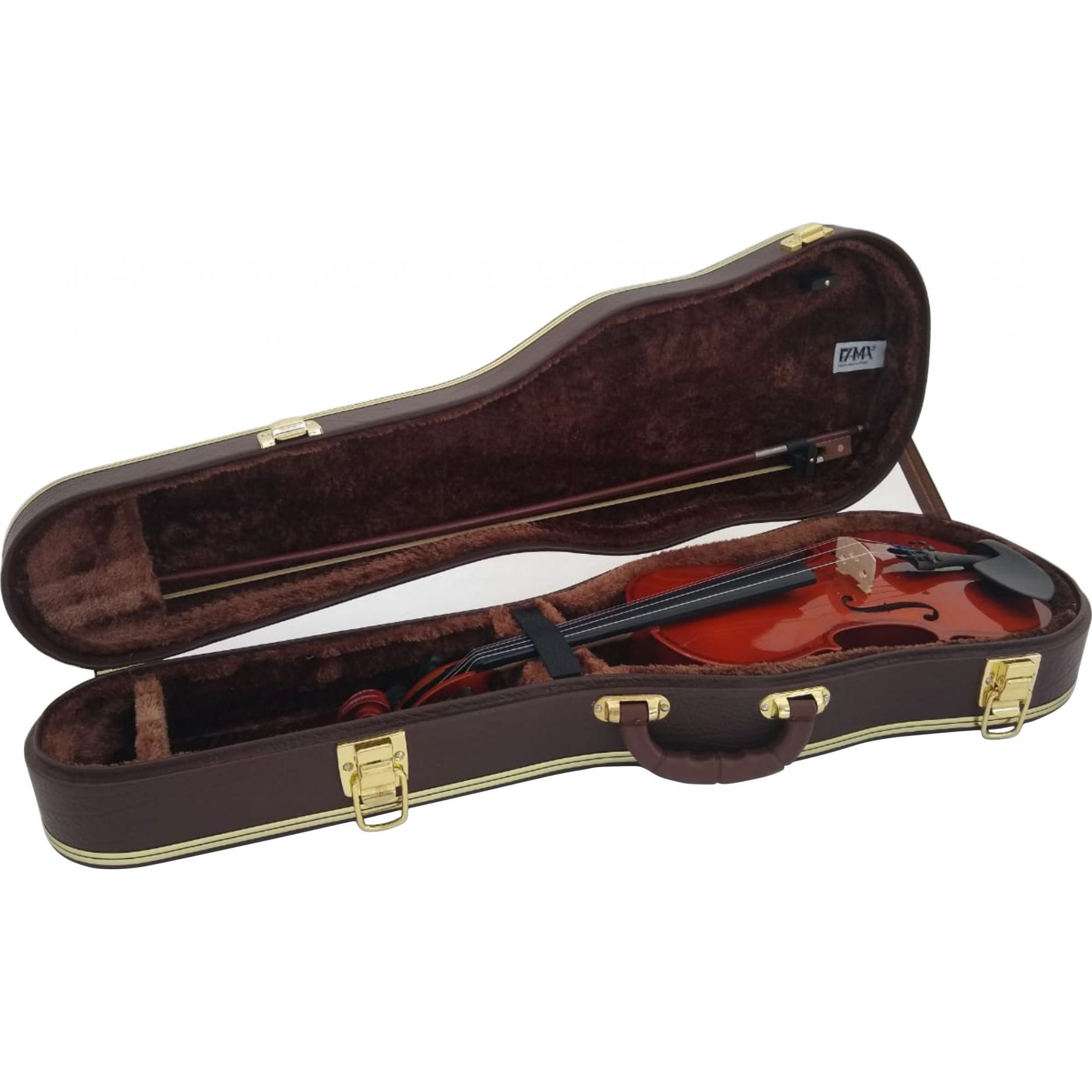 Estojo Case Para Violino 3/4 Extra Luxo Couro Sintético