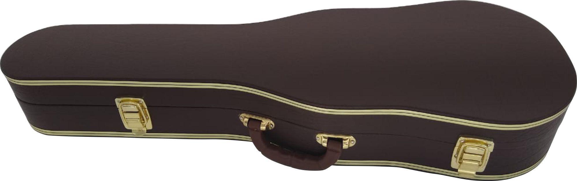 Estojo Case Para Violino 4/4 Extra Luxo Couro Sintético