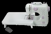 Mini Máquina de Costura Lanmax Bivolt 12 pontos c/ mesa extensora