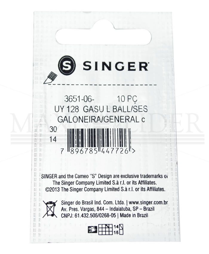 Agulha Industrial Singer 3651 - PCT C/ 10