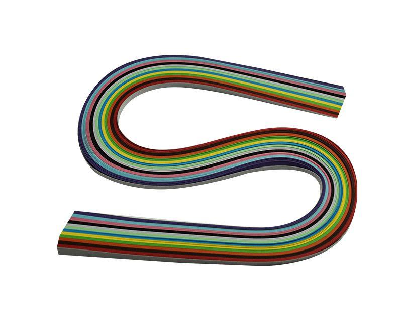 Kit com 120 tiras de papéis coloridos