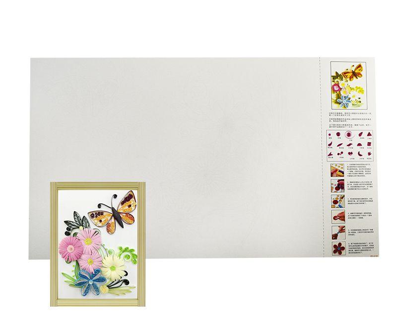 Molde flores e borboletas para Quilling Pacote com 10