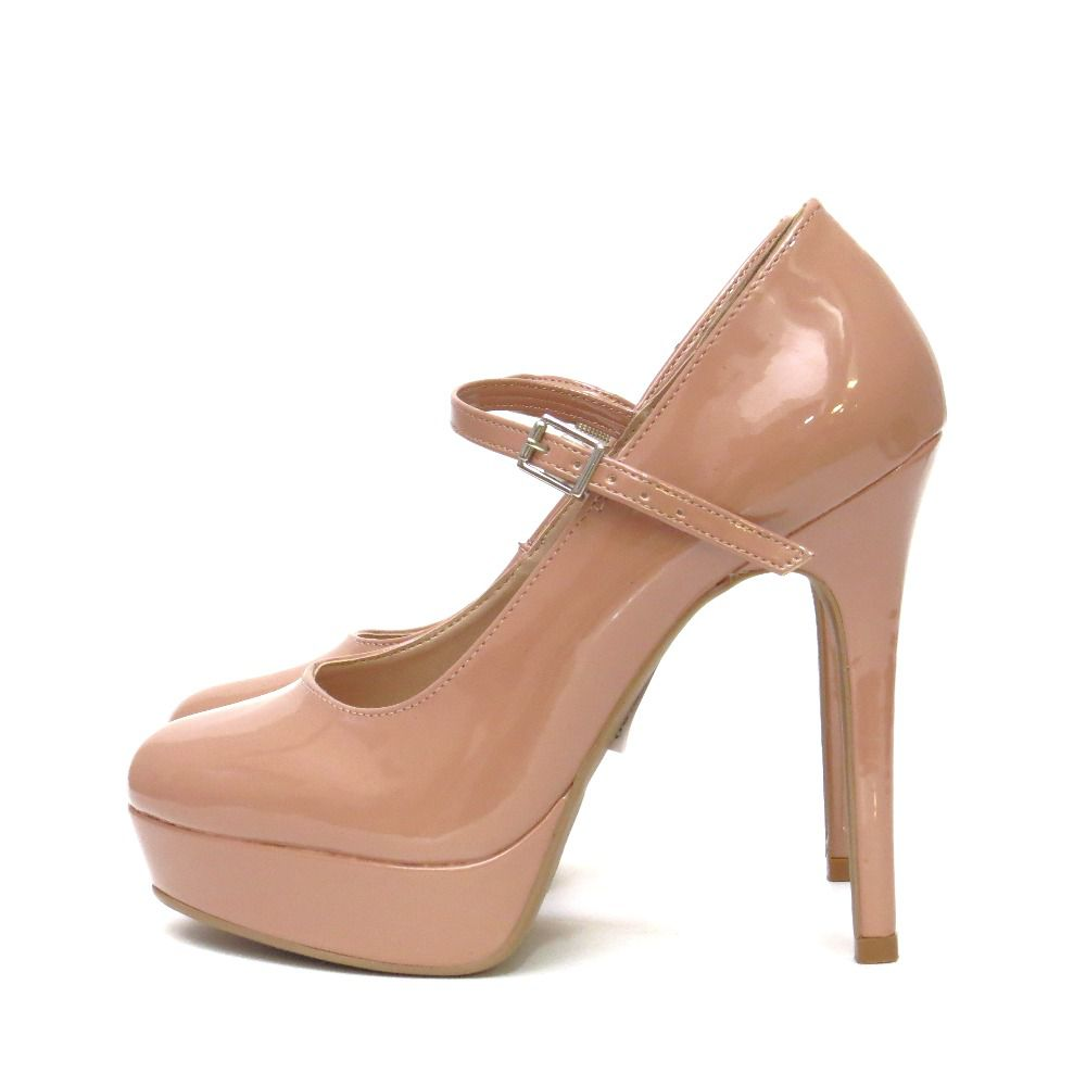 Sapato Boneca com plataforma - Nude