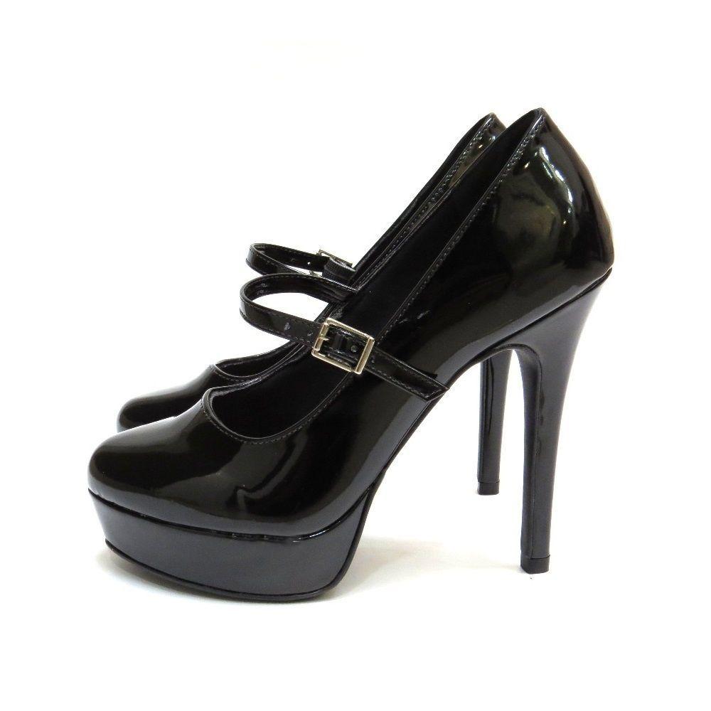 Sapato Boneca com plataforma - Preto