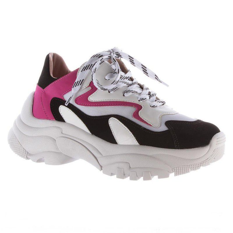 Tenis Ugly Milão - Branco com pink