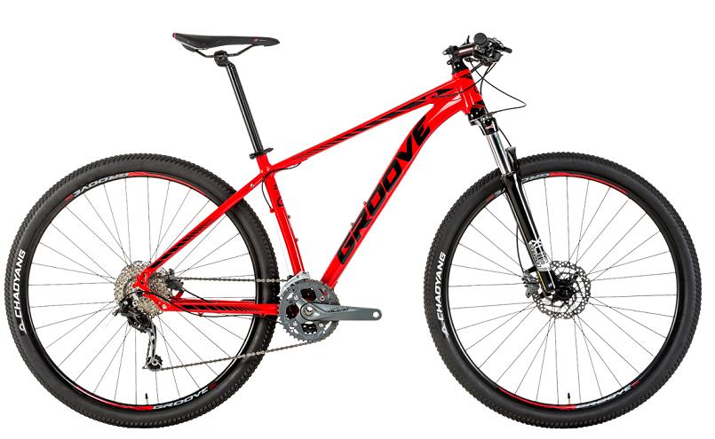 Bicicleta Groove SKA 70 27V Vermelho/Preto