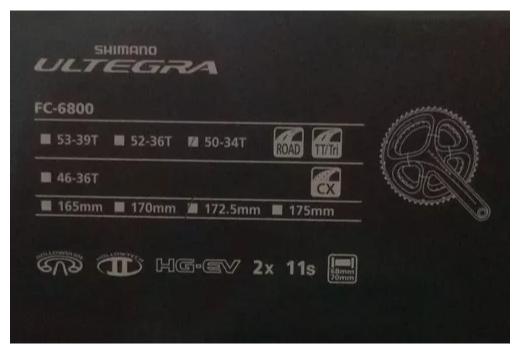 Pedivela Shimano Ultegra Fc-6800 172.5mm 50-34t