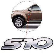 Emblema Auto Relevo Mala Lateral Chevrolet S10 1996 À 2011