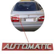Emblema Letreiro Cromado Automatic Corolla 96 97 98 99 À 2002
