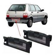 Par Lanterna Luz Placa Fiat Uno Mille 2004 A 2008 2009 2010