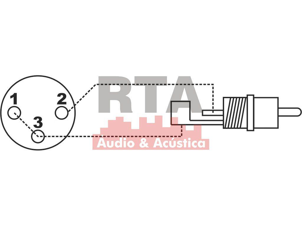 Adaptador XLR (canon) fêmea X RCA macho