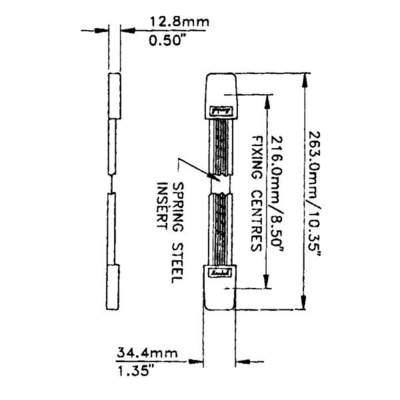 Alça plana Penn Elcom H1009 com capa plástica para case, amplificador, cubo, combo