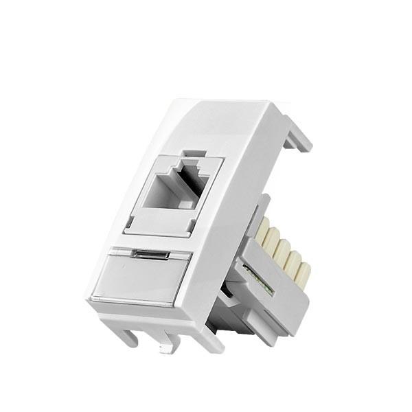 Modulo Mar-Girius para telefonia ou informatica linha Sleek branco
