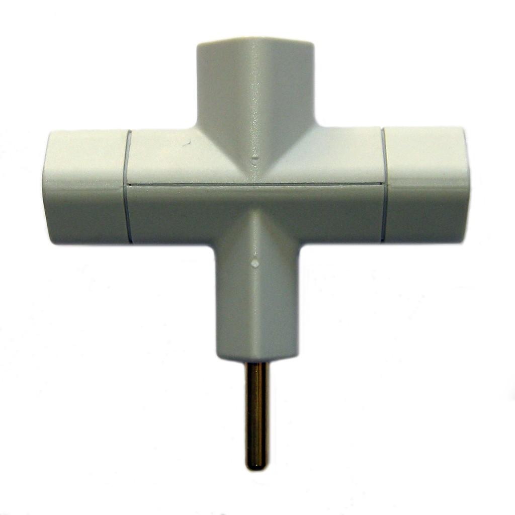 Pino T Mar-Girius 3 pinos (pino adaptador 3 saídas)