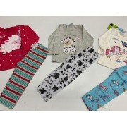 pijamas infantil menina 3 unidades com marcas variadas
