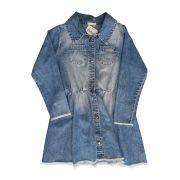 Vestido Infantil em Jeans com Estampa de Unicórnio Bambollina