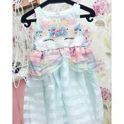 vestido infantil marisol de unicórnio