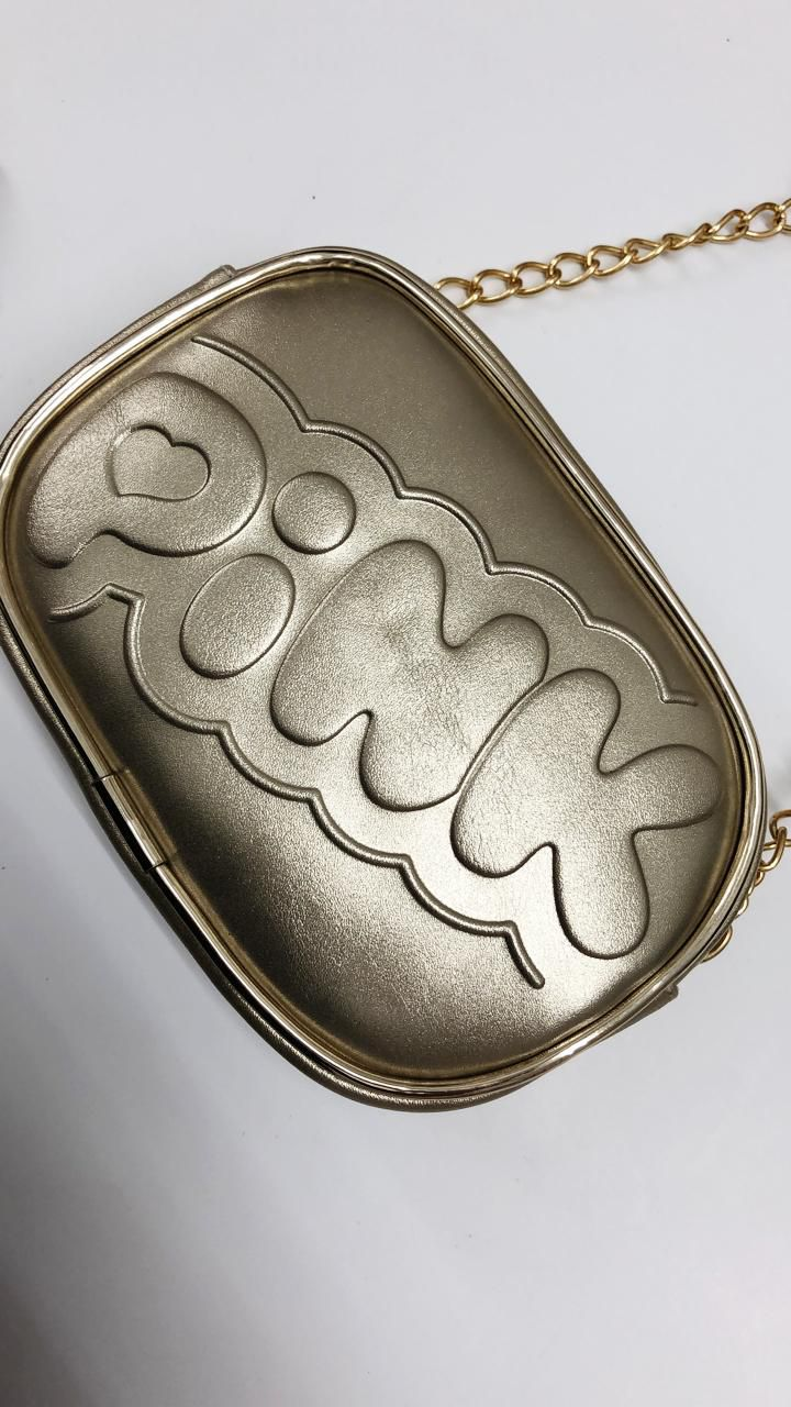 bolsa pampili transversal dourada