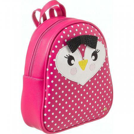 Mochila Infantil Pampili Zoo Pinguim Pink Batom