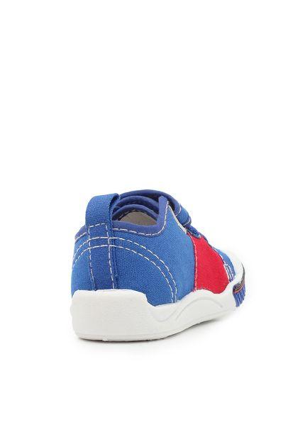 Tênis Infantil Masculino Toy Azul Royal/Vermelho Klin