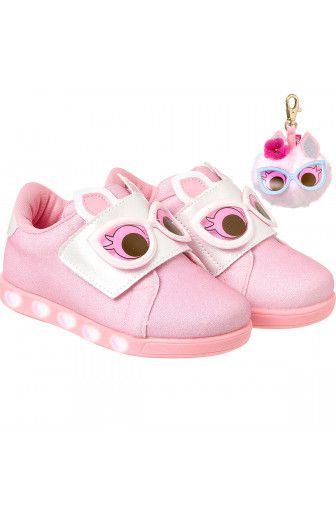 02e623547 Tênis Infantil Sneaker Luz Dot s Rosa Degradê Pampili