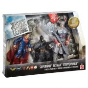 Bonecos DC Liga da Justiça - 3 Pack - Batman, Steppenwolf, & Superman- Action Figure