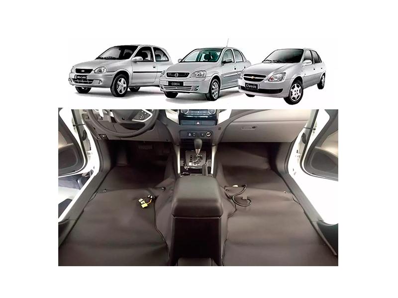 Forro Super Luxo Automotivo Assoalho Para Corsa Celta Prisma até 2011