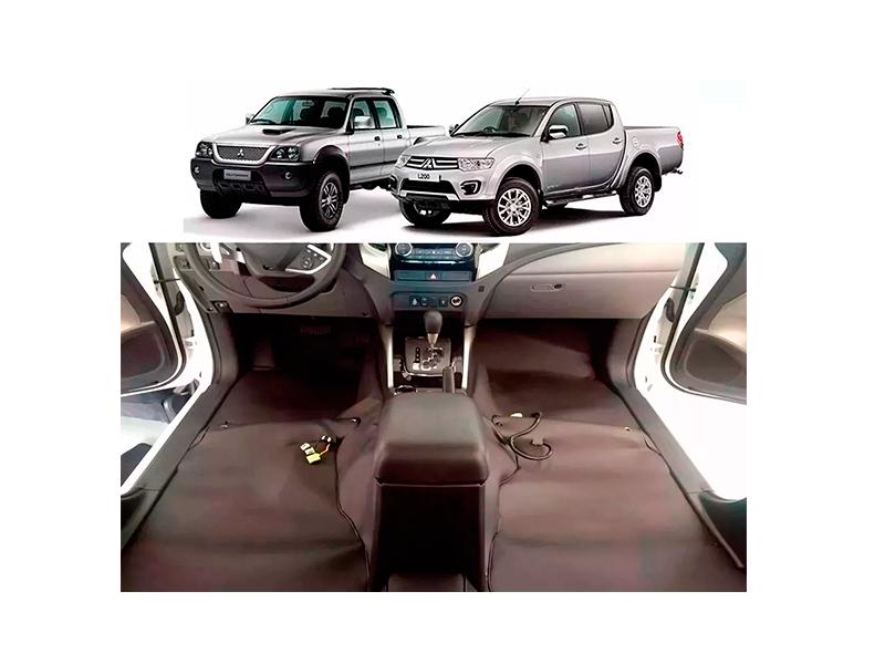 Forro Super Luxo Automotivo Assoalho Para L200 Dupla Todos