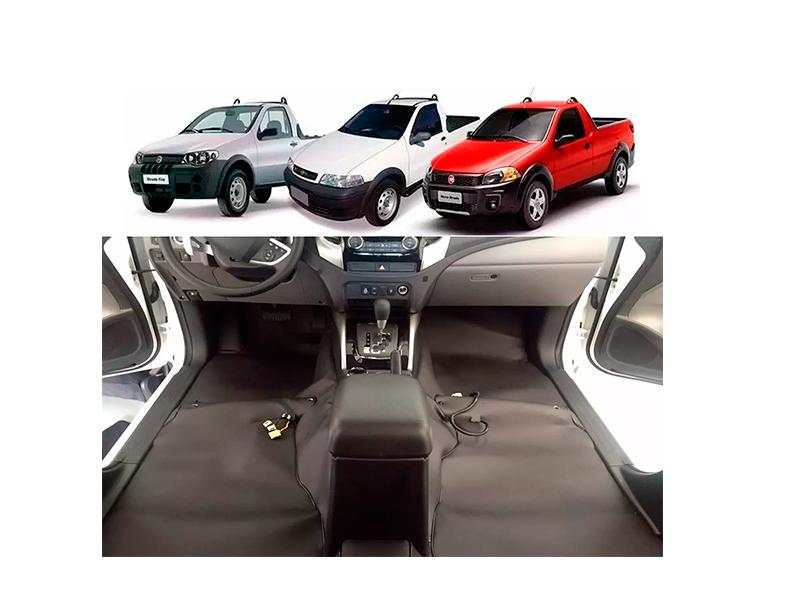 Forro Super Luxo Automotivo Assoalho Para Strada Simples Todos